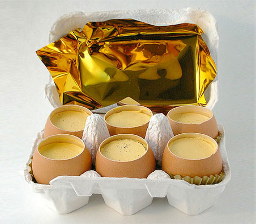 Eggshell Puddings Package Design