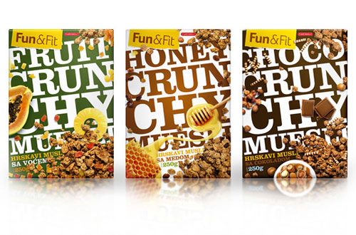 FunandFit Muesli Package Design
