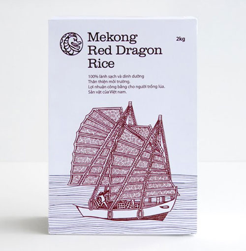 Mekong Red Dragon Rice Package Design