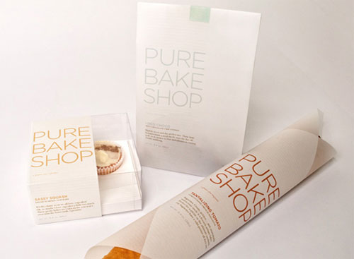 Pure Bake Shop Package Design