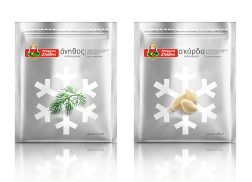 Uncle Statis Frozen Herbs Package Design
