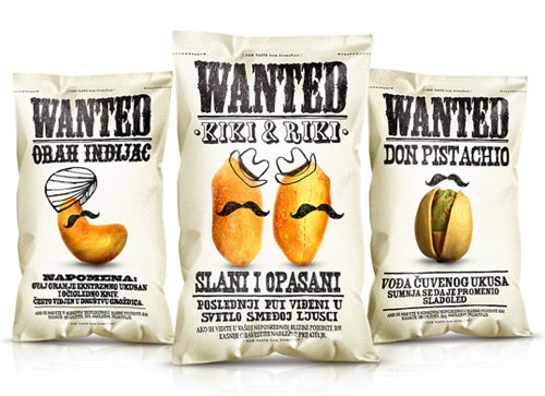 Wanted Snacks Package Design