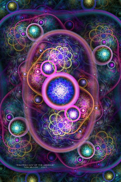 Einsteins Map of the Universe fractal art
