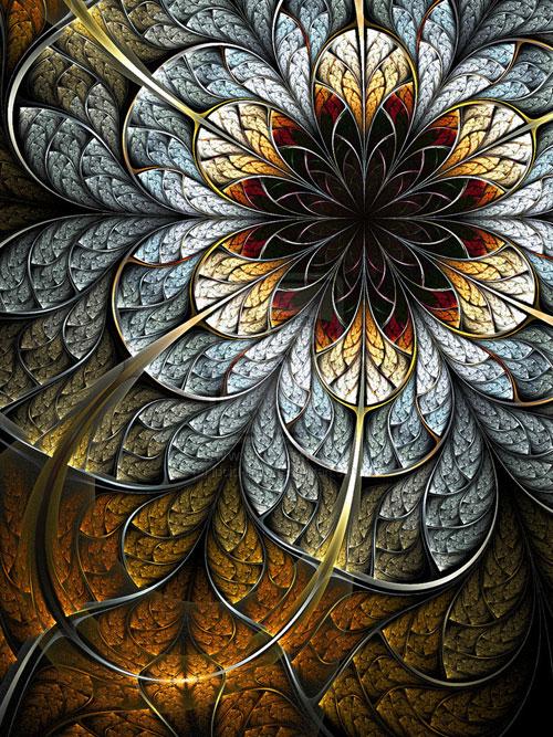 Flower fractal art