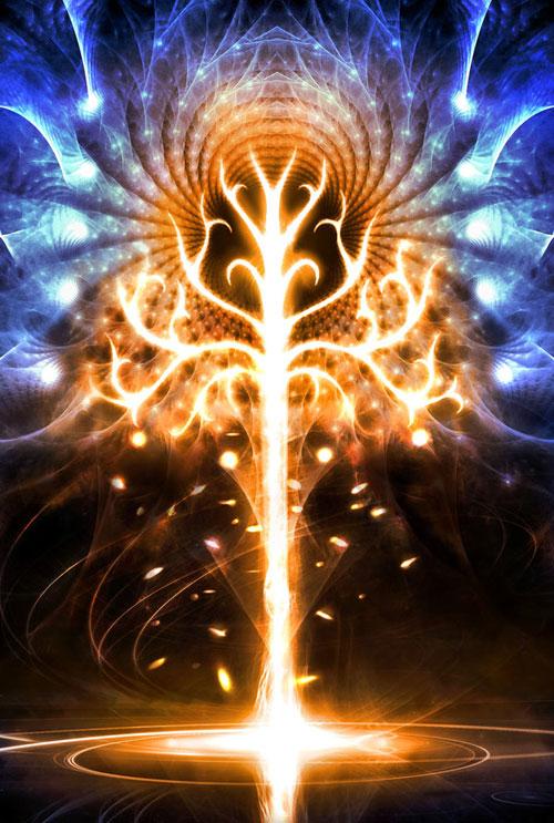 Infernal Autumn fractal art