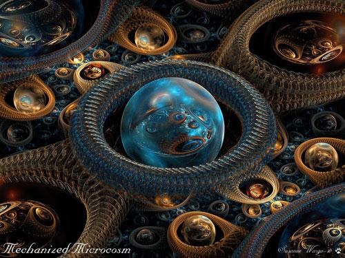 Mechanized Microcosm fractal art