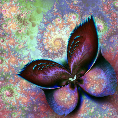 The dream of a butterfly fractal art