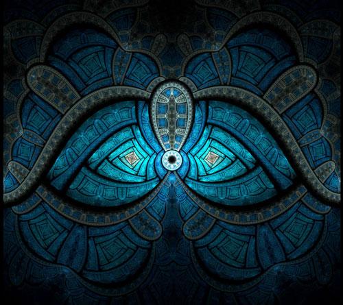 Winter's Gaze fractal art