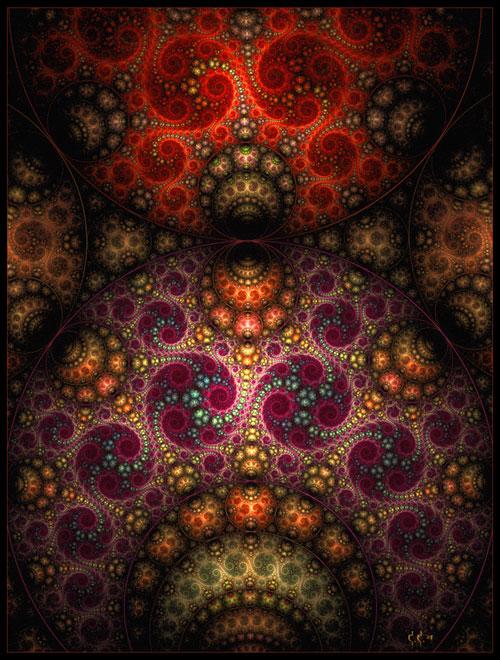 echoed motif fractal art