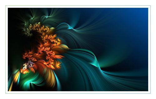 Wave fractal art