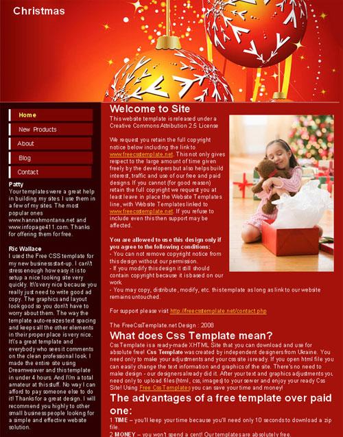 Christmas Website Template