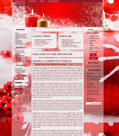 free joomla template - Christmas Red