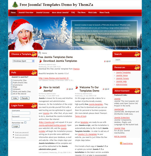 free joomla template - Christmas Spirit