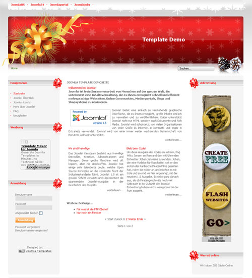 free joomla template - Christmas Time