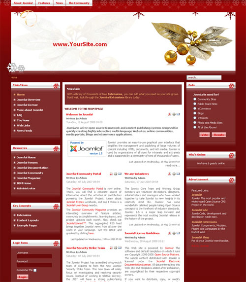 free joomla template - Golden Xmas