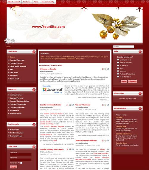free joomla template - Golden Xmas