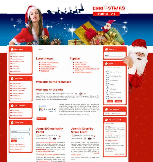 free joomla template - Santa V1