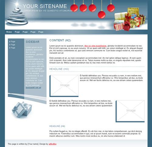 free website template - Christmas 02