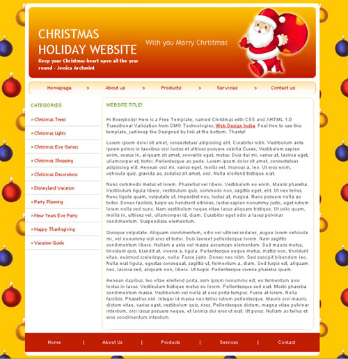 free website template - Christmas Holiday