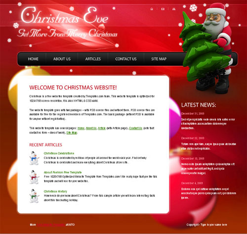 free website template - Christmas eve