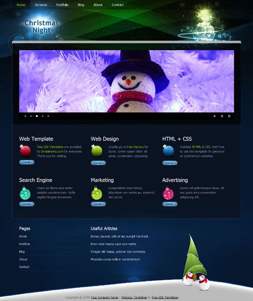 free website template - Christmas night