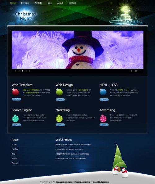 free website template - Christmas night