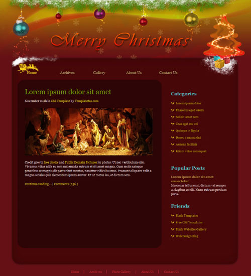 free website template - Christmas