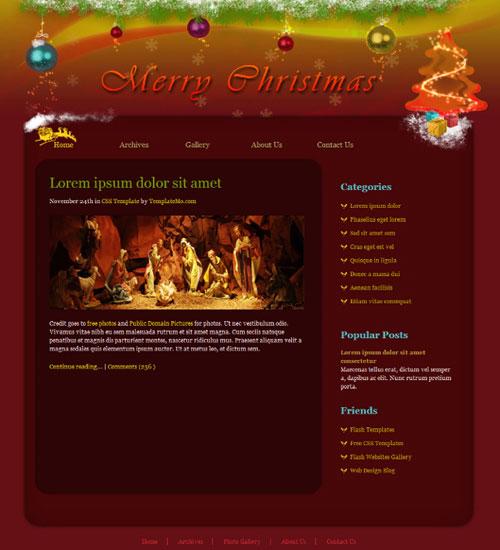 free website template - Christmas