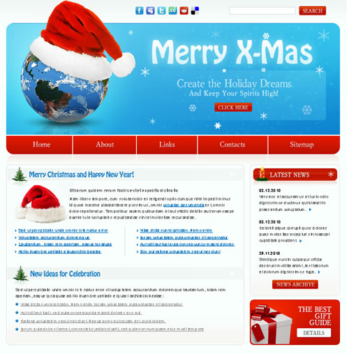 free website template - Merry Xmas