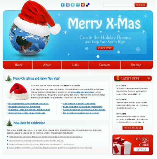 free website template - Merry Xmas