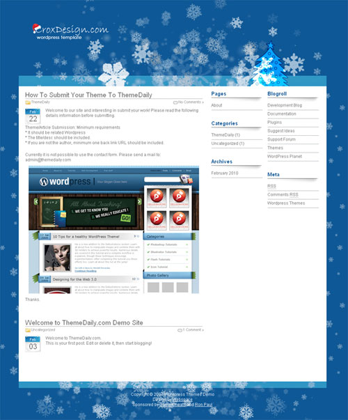 free wordpress theme - Christmas Crox 1.0