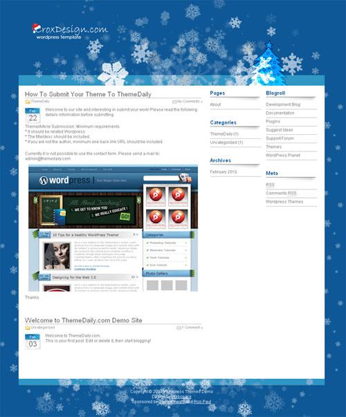 free wordpress theme - Christmas Crox 1.0