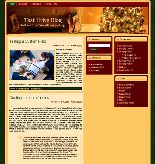 free wordpress theme - Christmas Eve