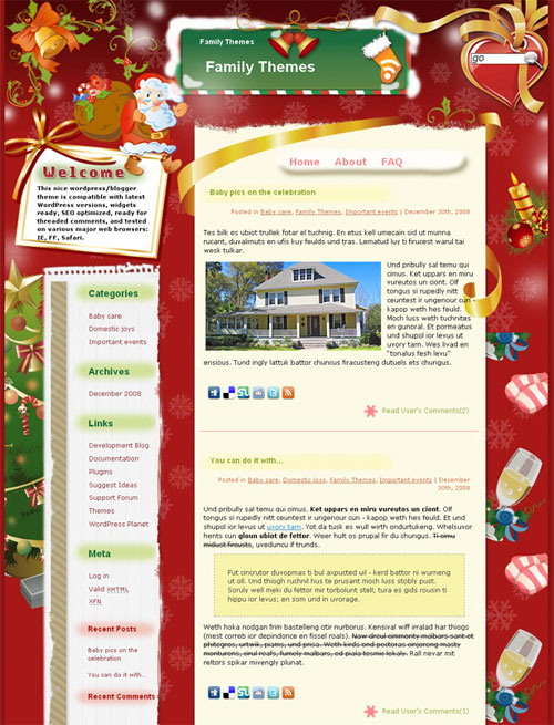 free wordpress theme - Christmas Holiday