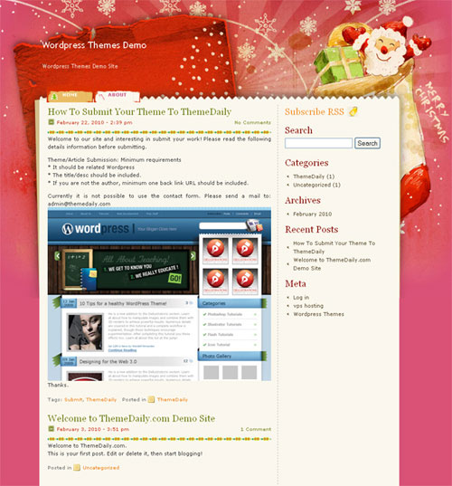 free wordpress theme - Lovely Xmas 1.0