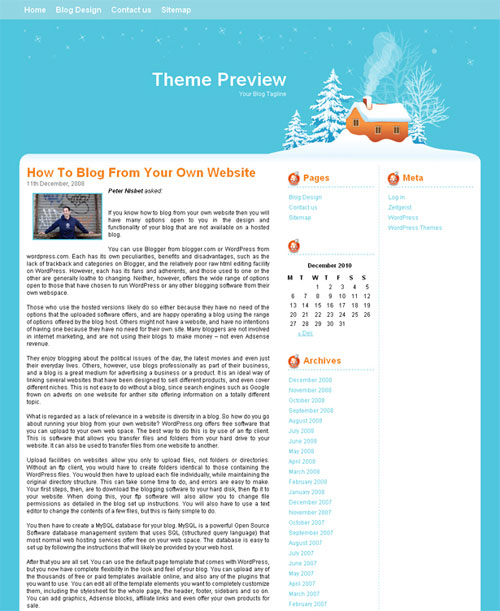 free wordpress theme - Winter Christmas