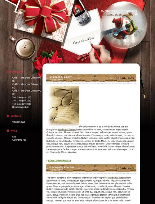 free wordpress theme - Xmas Desktop 1.0