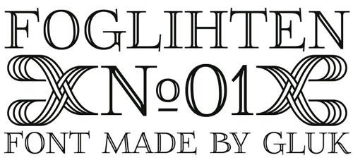 FoglihtenNo01 Free font for download