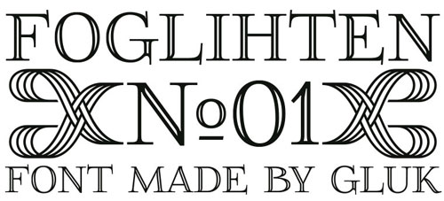FoglihtenNo01 Free font for download