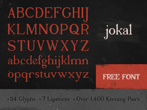 Jokal Free font for download