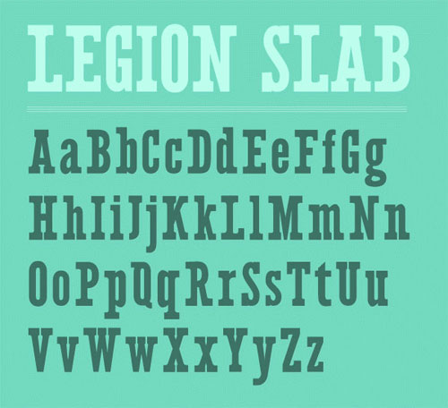 Legion Slab Typeface Free font for download