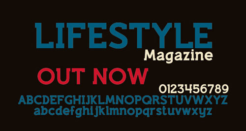 Lifestyle M54 Free font for download