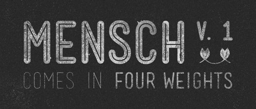 Mensch Free font for download
