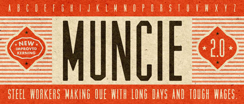 Muncie Free font for download