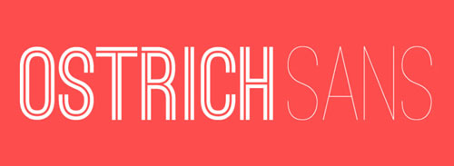 Ostrich Sans Free font for download