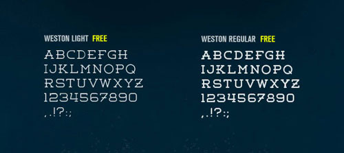 Weston Free font for download