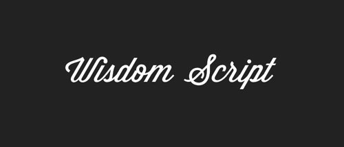 Wisdom Script Free font for download