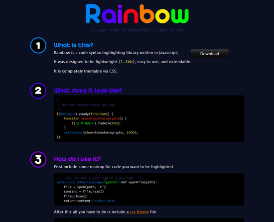 Rainbow Tool for web designers and web developers