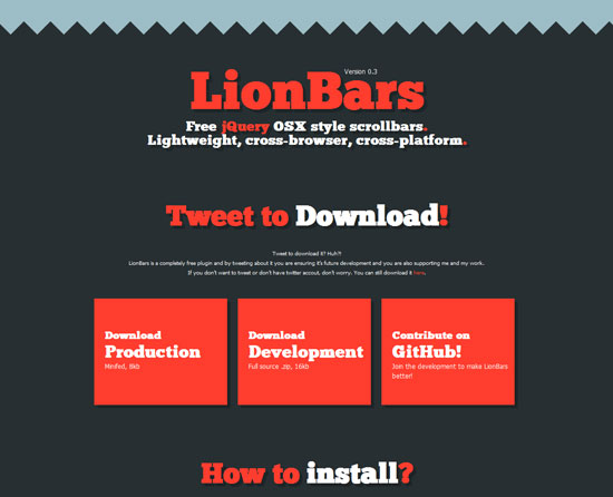 LionBars Tool for web designers and web developers