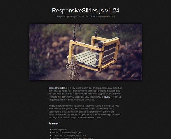 ResponsiveSlides.js Tool for web designers and web developers
